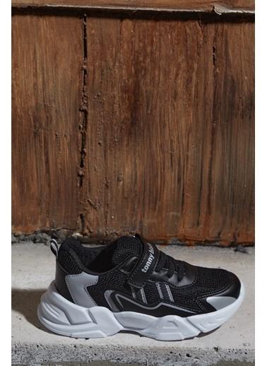Tonny Black Siyah Beyaz Çocuk Spor Ayakkabı Tb0098 Siyah
